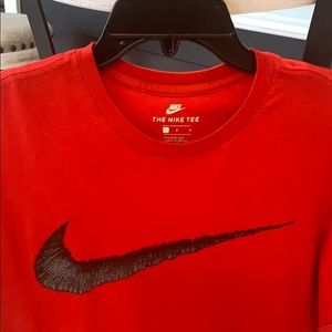 Men's Nike red athletic cut large tee worn once